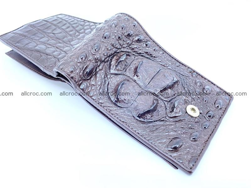Crocodile skin wallet with pocket for coins and half belt 950
