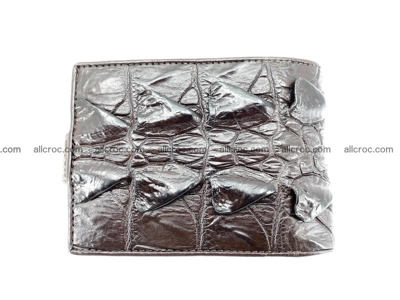 Crocodile skin wallet with pocket for coins and half belt 948