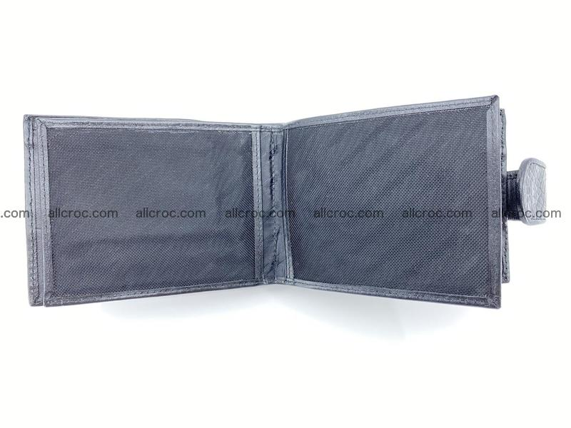 Crocodile skin wallet with pocket for coins and half belt 947