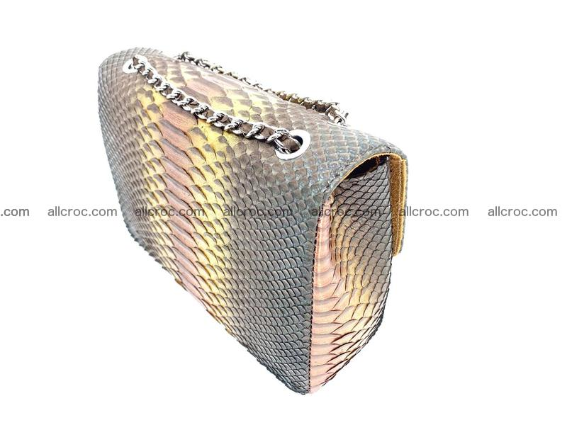 Python snakeskin shoulder bag 1078