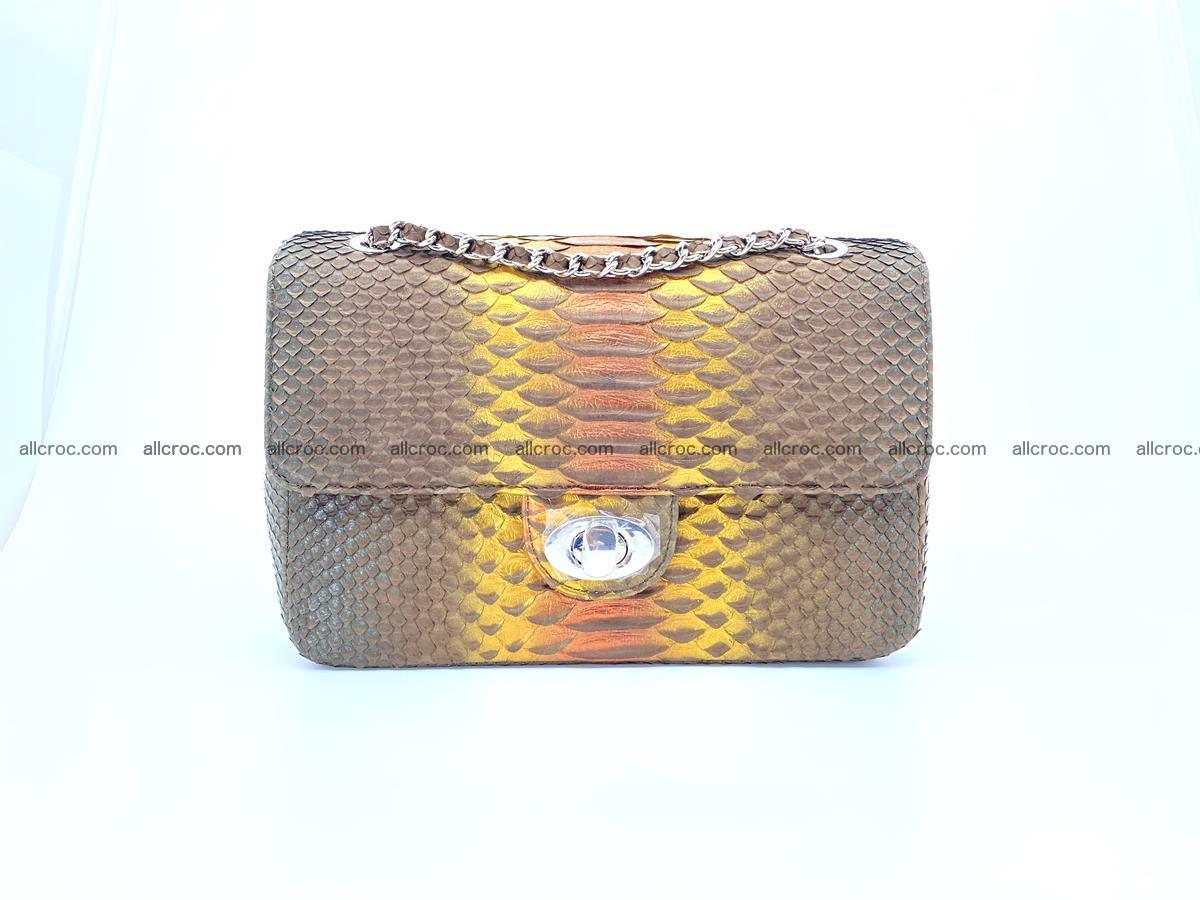 Python snakeskin shoulder bag 1078 Foto 0