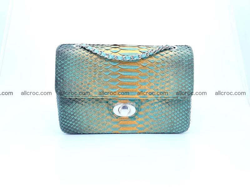 Python snakeskin shoulder bag 1072