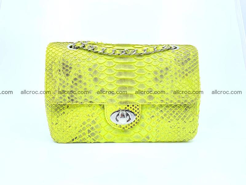 Python snakeskin shoulder bag 1074