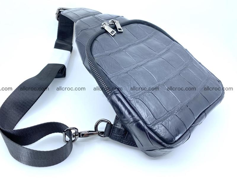 Sling bag from crocodile skin 886