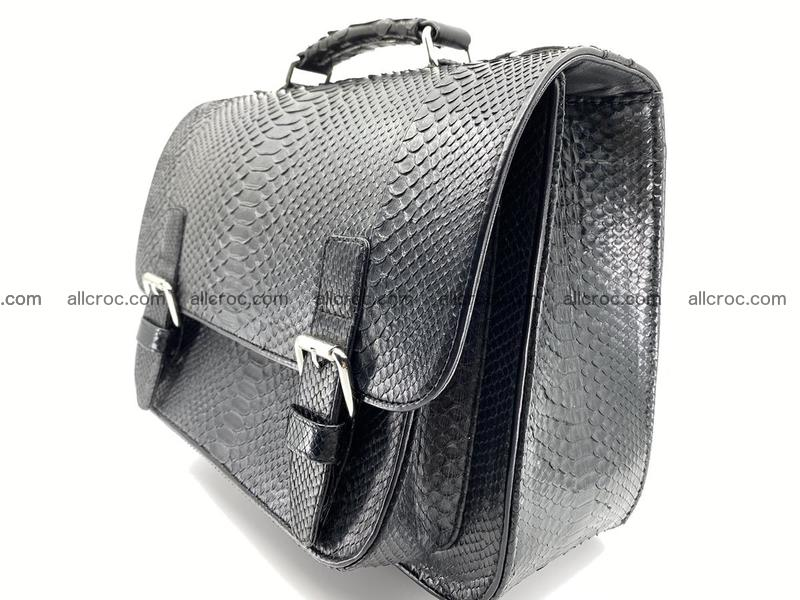 Snake python skin handbag for men 897