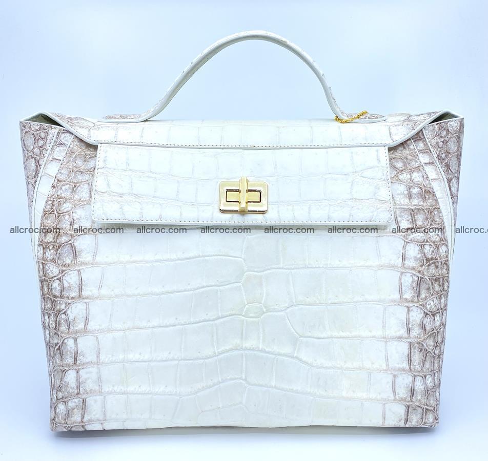 Women's crocodile skin handbag 1452 Foto 0
