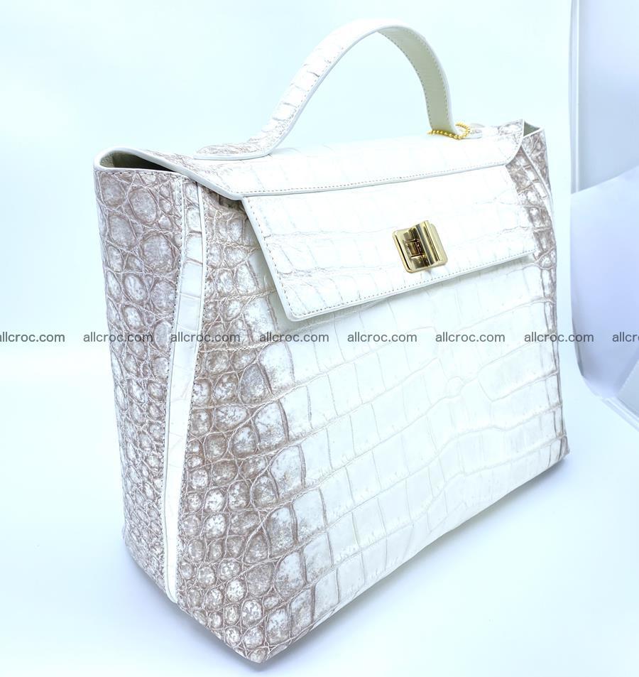 Women's crocodile skin handbag 1452 Foto 1