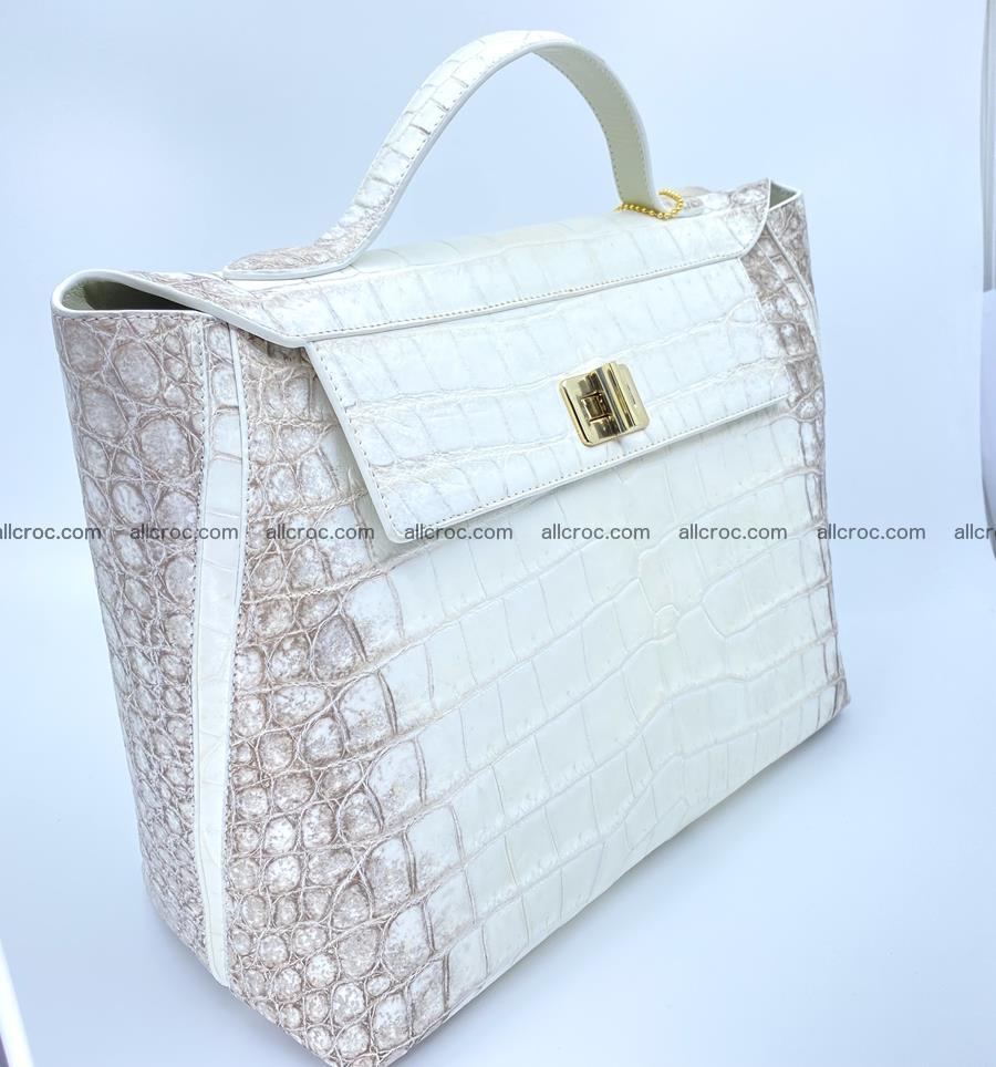 Women's crocodile skin handbag 1452 Foto 2