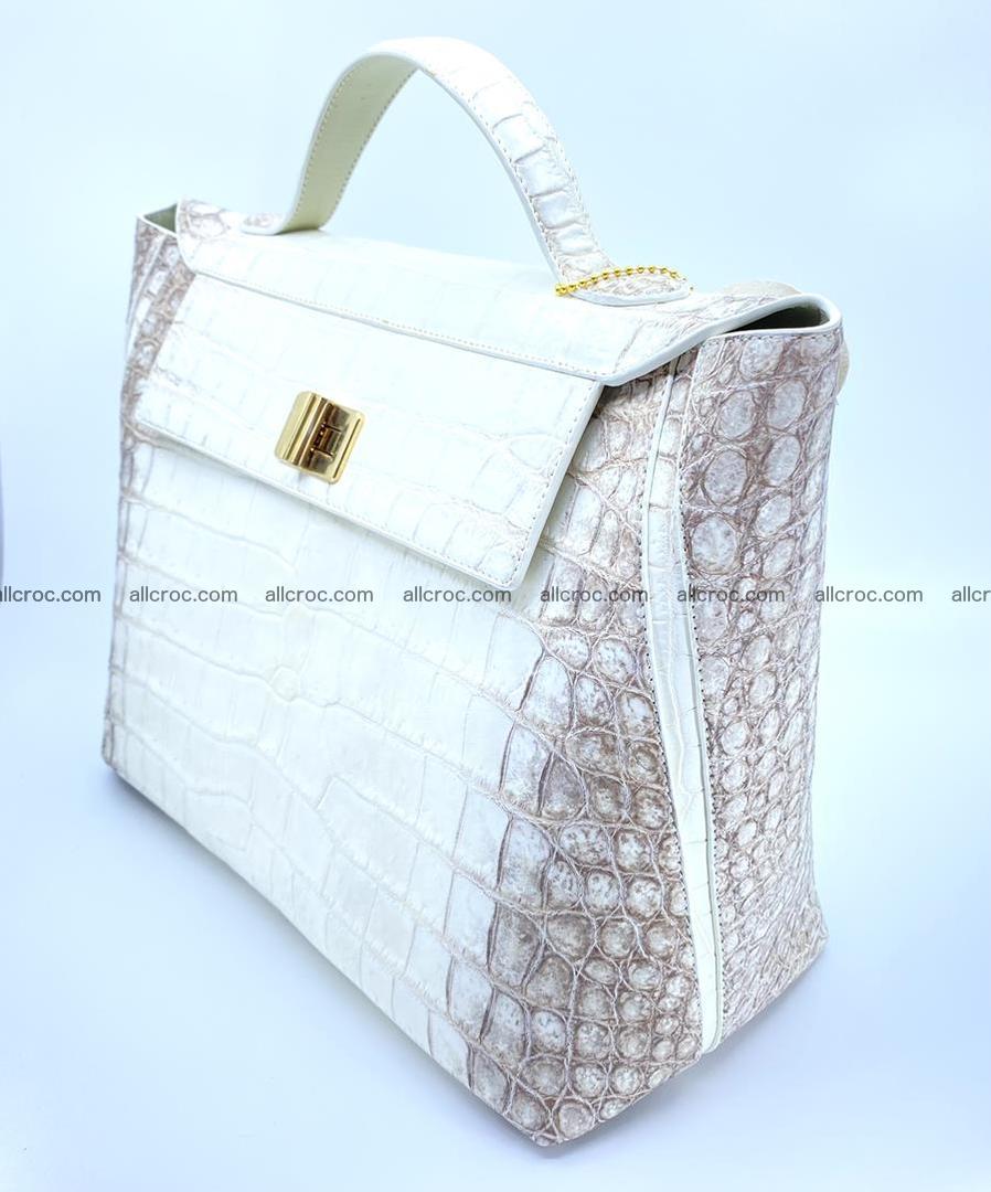 Women's crocodile skin handbag 1452 Foto 3