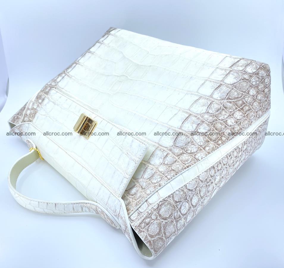 Women's crocodile skin handbag 1452 Foto 5