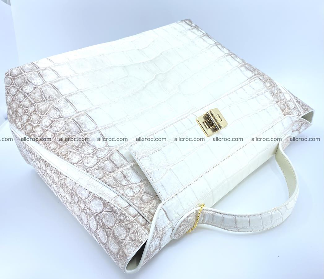 Women's crocodile skin handbag 1452 Foto 6