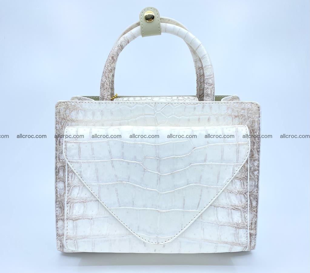 Women's crocodile skin handbag 1453 Foto 0