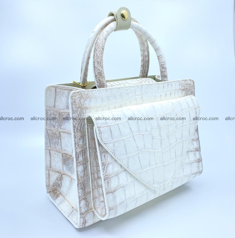 Women's crocodile skin handbag 1453 Foto 1