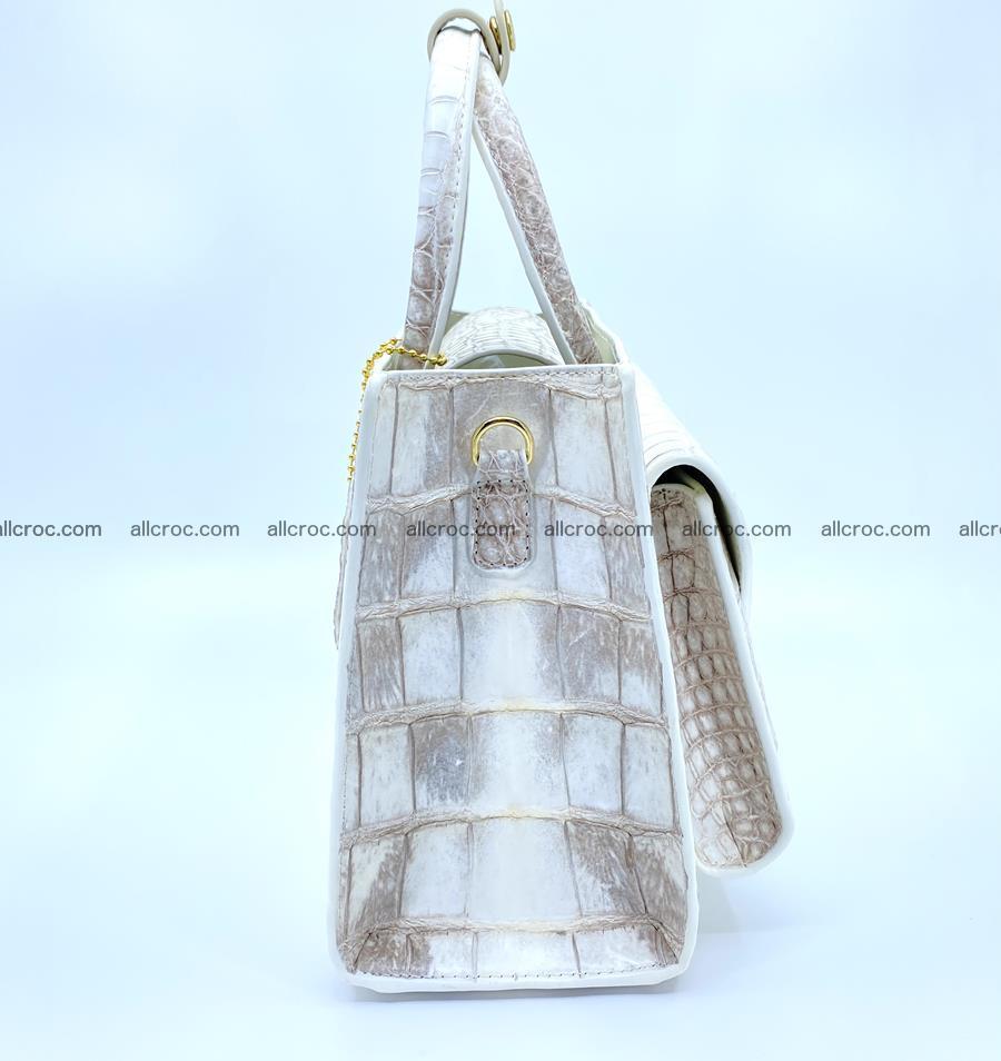Women's crocodile skin handbag 1453 Foto 2