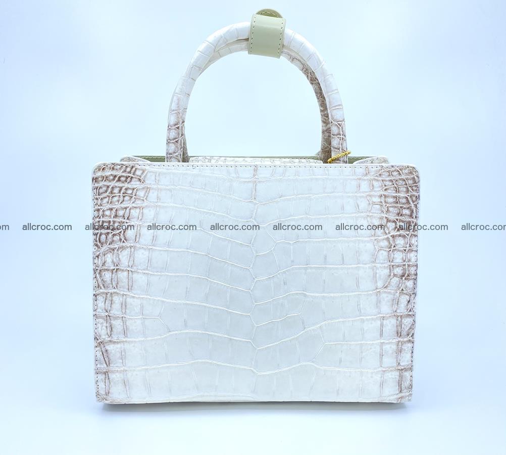 Women's crocodile skin handbag 1453 Foto 3