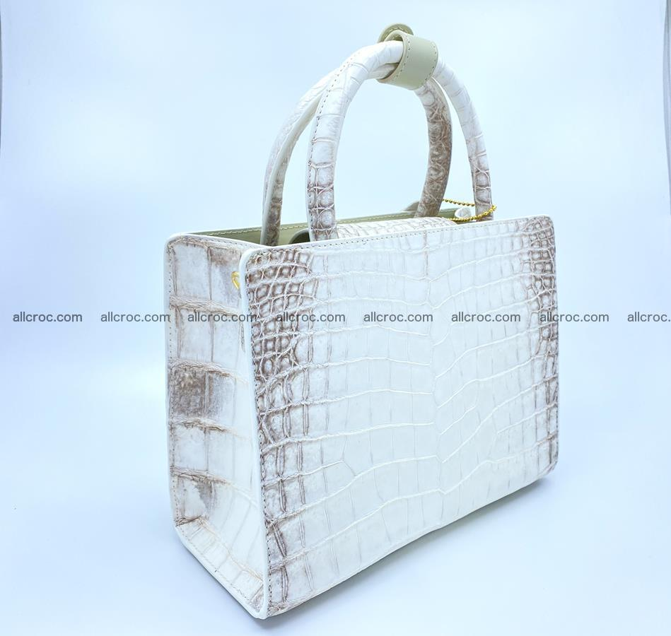 Women's crocodile skin handbag 1453 Foto 4