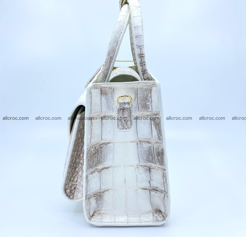 Women's crocodile skin handbag 1453 Foto 5