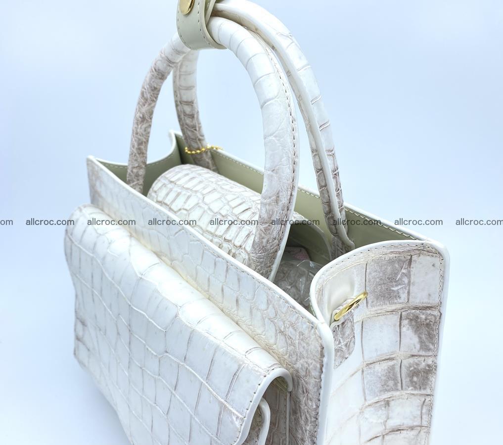 Women's crocodile skin handbag 1453 Foto 6