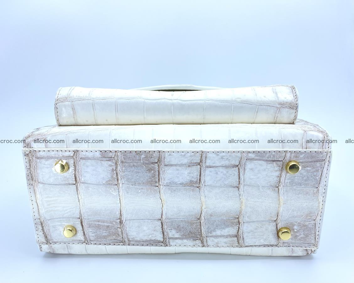 Women's crocodile skin handbag 1453 Foto 8