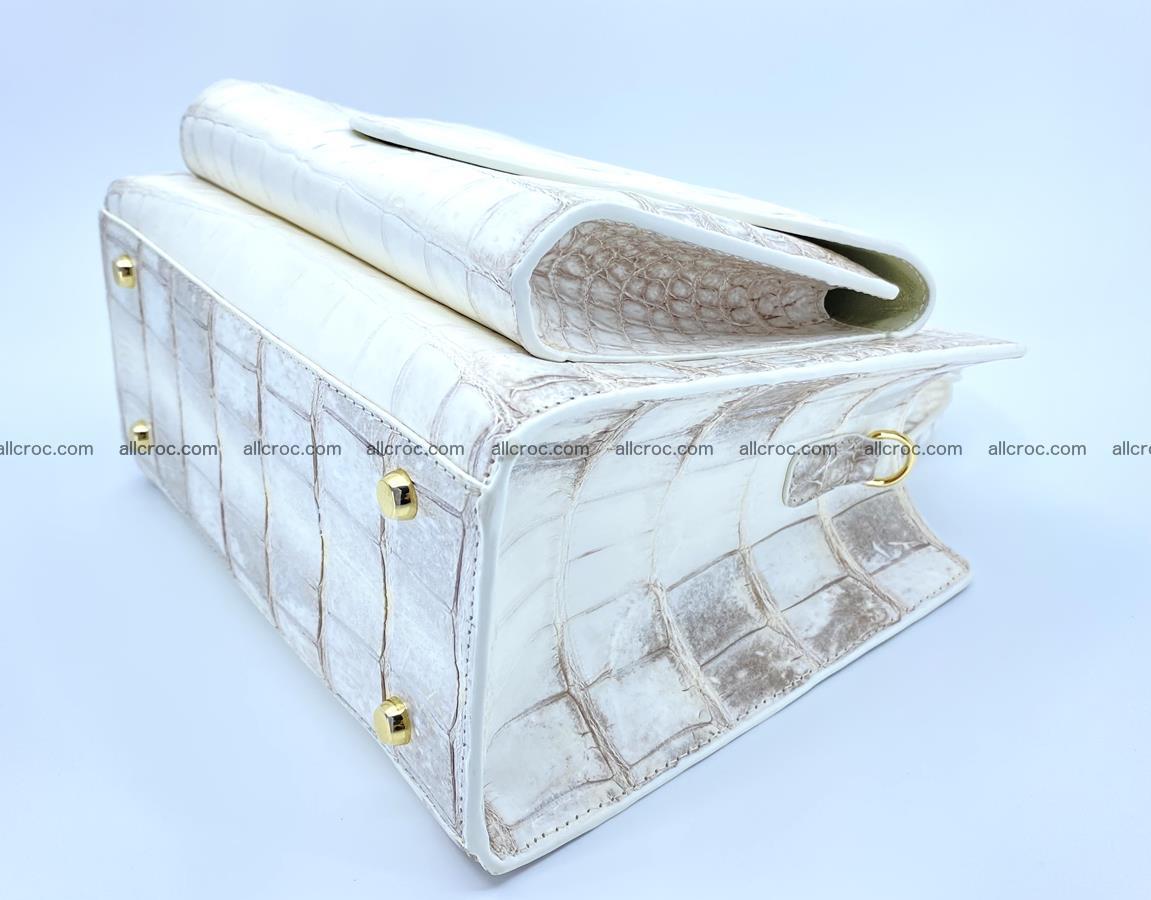 Women's crocodile skin handbag 1453 Foto 9