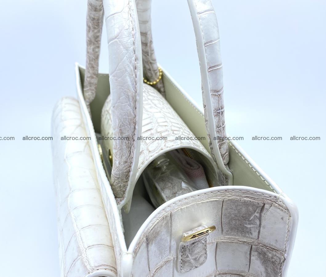 Women's crocodile skin handbag 1453 Foto 10