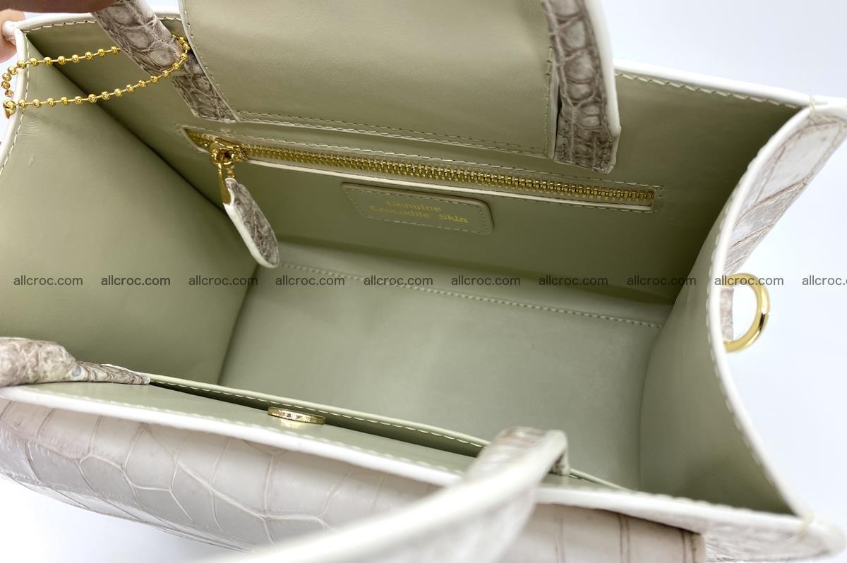 Women's crocodile skin handbag 1453 Foto 11