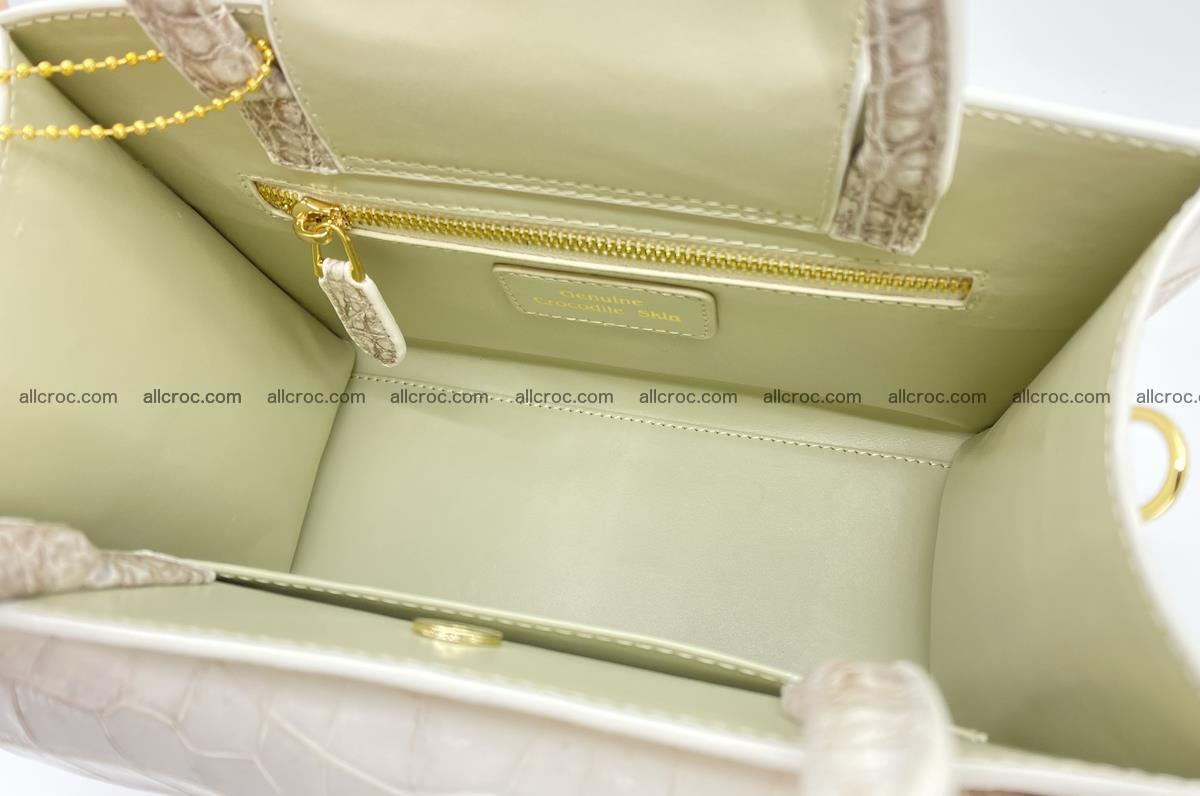 Women's crocodile skin handbag 1453 Foto 12