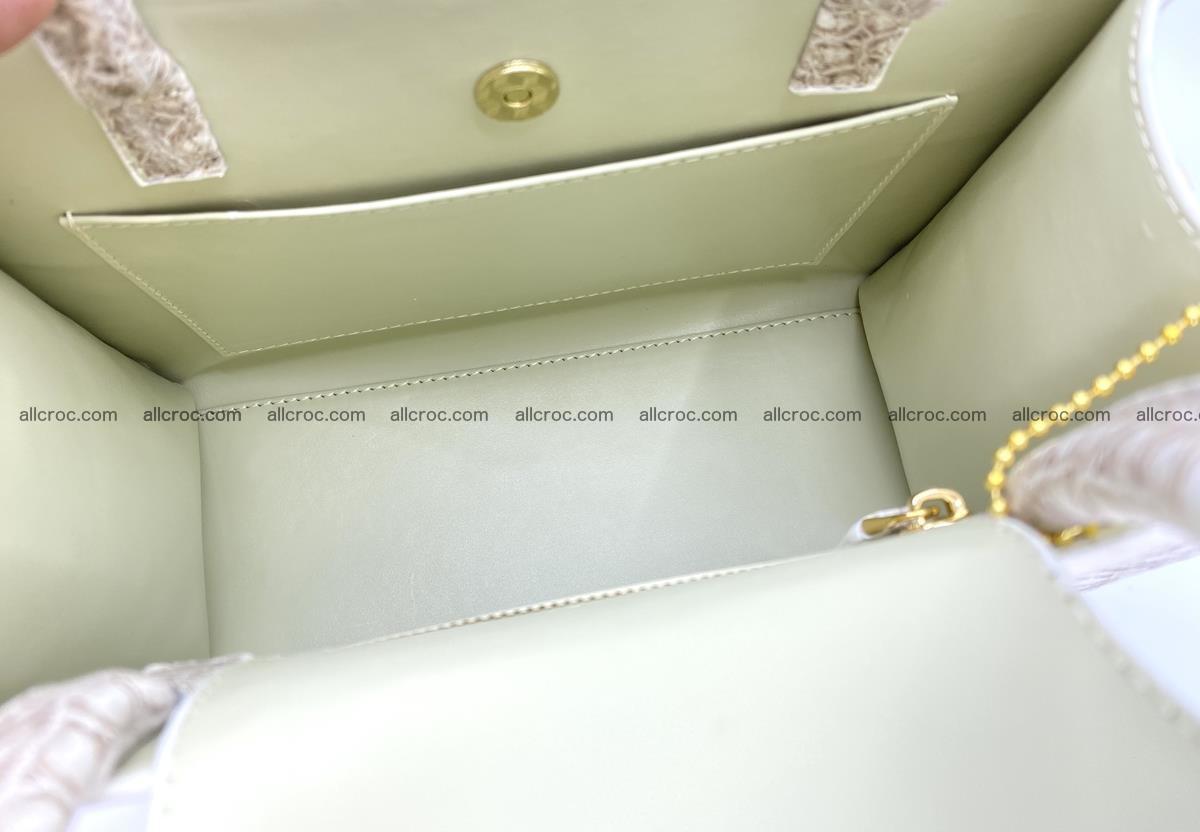 Women's crocodile skin handbag 1453 Foto 13
