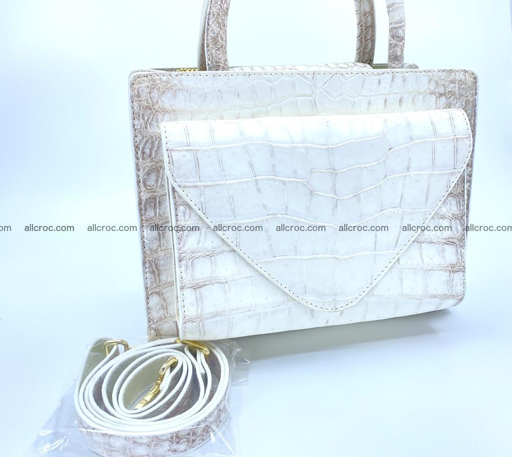 Women's crocodile skin handbag 1453 Foto 14
