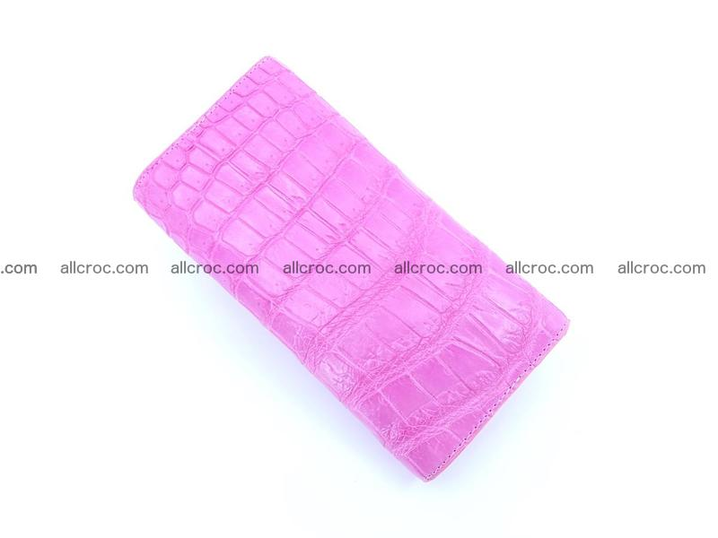Women's crocodile skin long wallet 1020