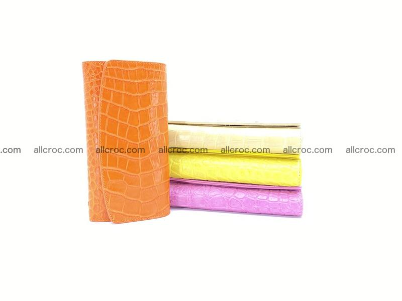 Women's crocodile skin long wallet 1019