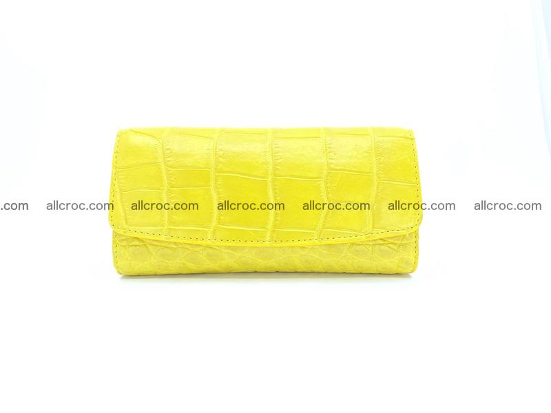 Women's crocodile skin long wallet 1021