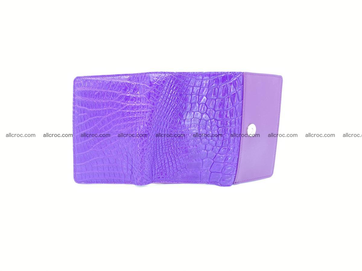 Women's crocodile skin wallet 1034 Foto 9