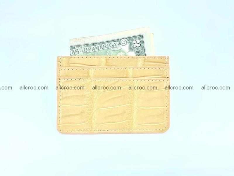 Card holder from crocodile skin 993