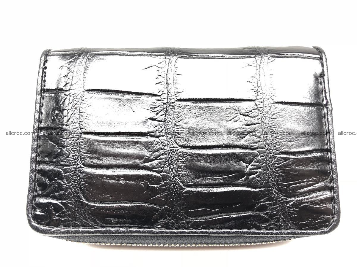 Card holder from genuine Siamese crocodile skin, belly part of crocodile 452 Foto 0