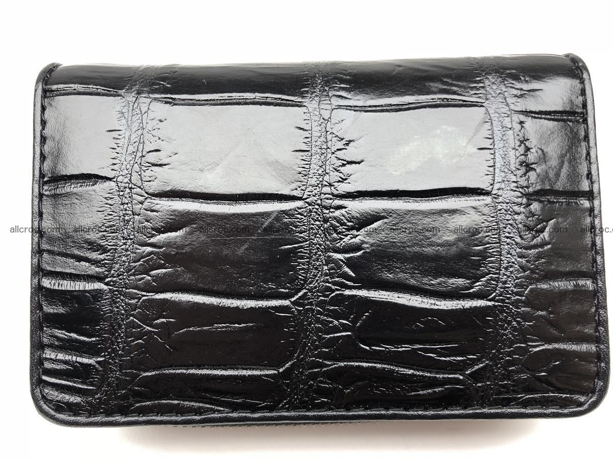 Card holder from genuine Siamese crocodile skin, belly part of crocodile 452 Foto 1