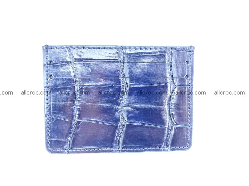 Card holder from Siamese crocodile skin 522