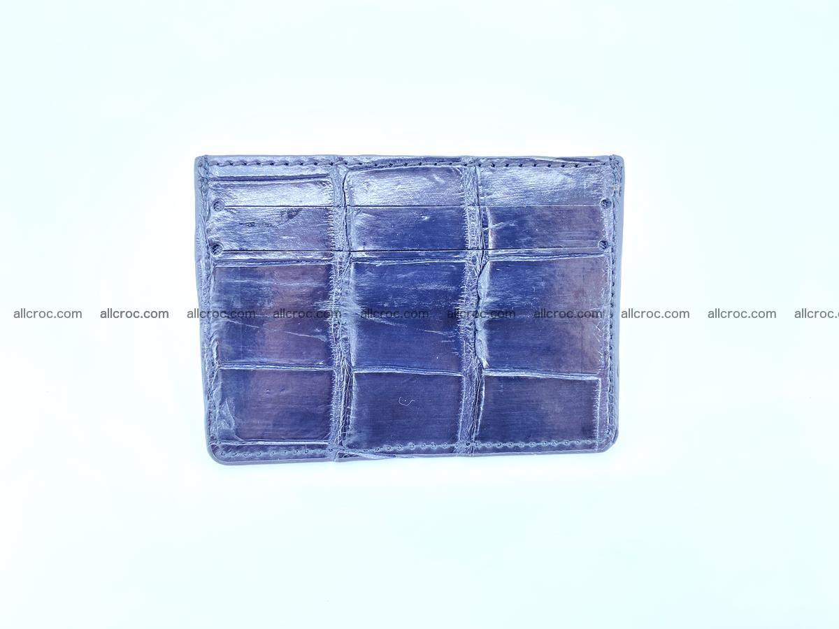 Card holder from Siamese crocodile skin 522 Foto 2
