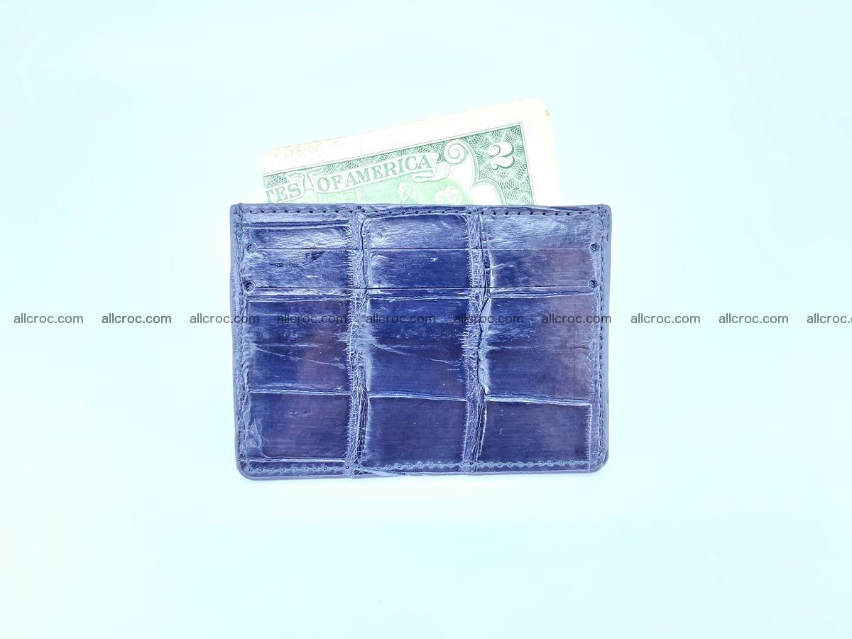 Card holder from Siamese crocodile skin 522 Foto 3