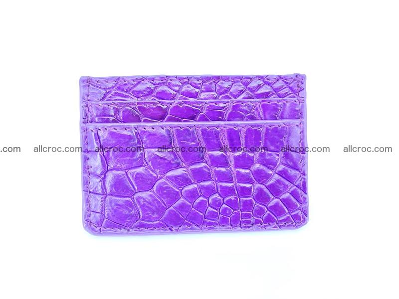 Crocodile skin card holder 370