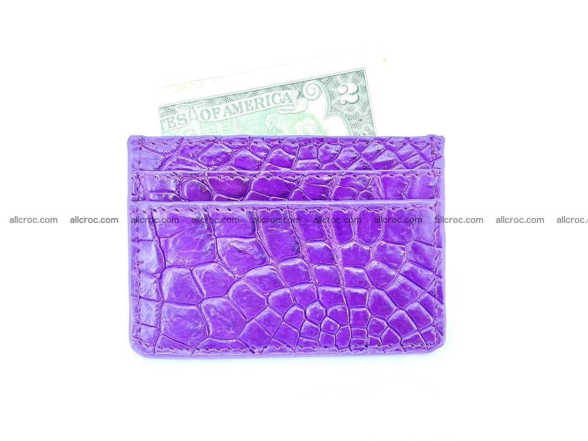 Crocodile skin card holder 370 Foto 3