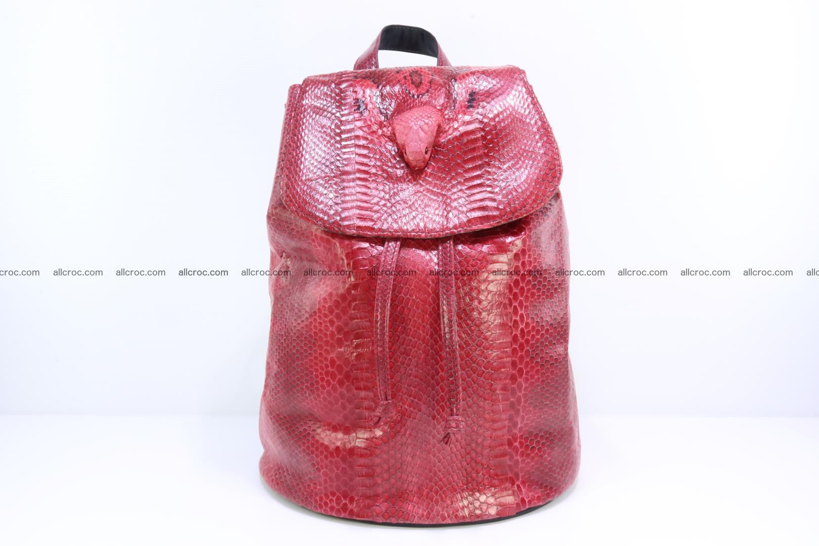 Cobra skin backpack with head of cobra 418 Foto 0