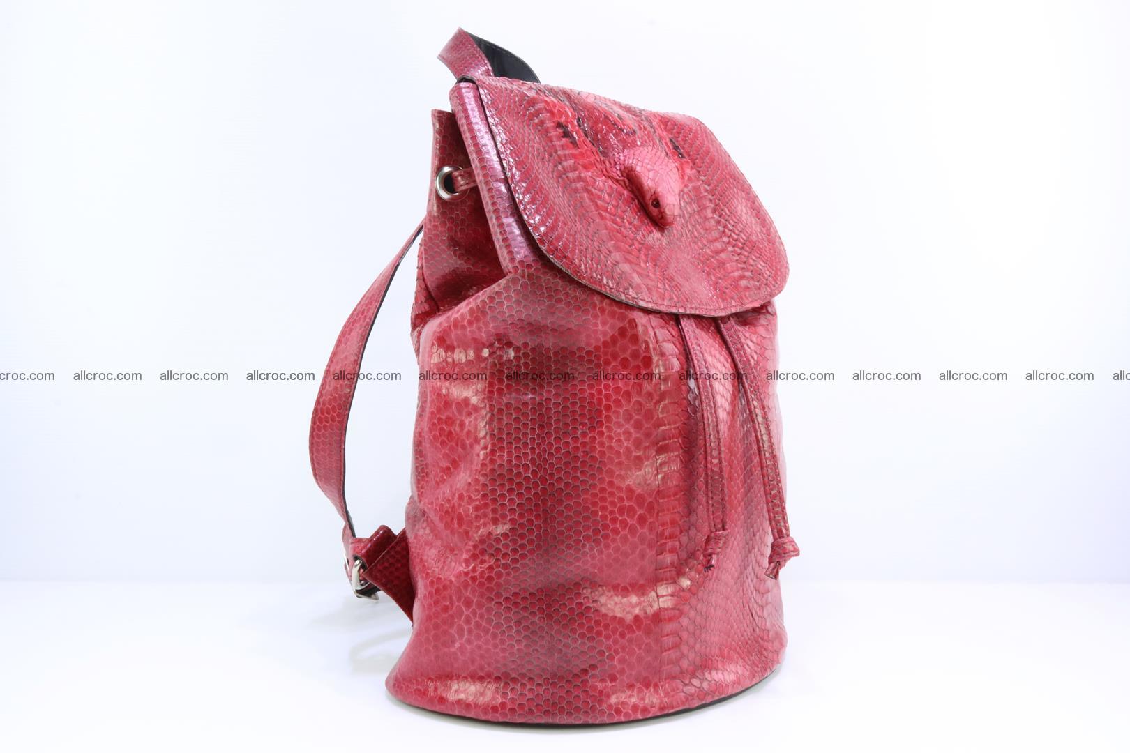 Cobra skin backpack with head of cobra 418 Foto 1