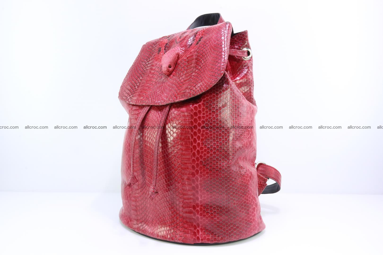 Cobra skin backpack with head of cobra 418 Foto 2