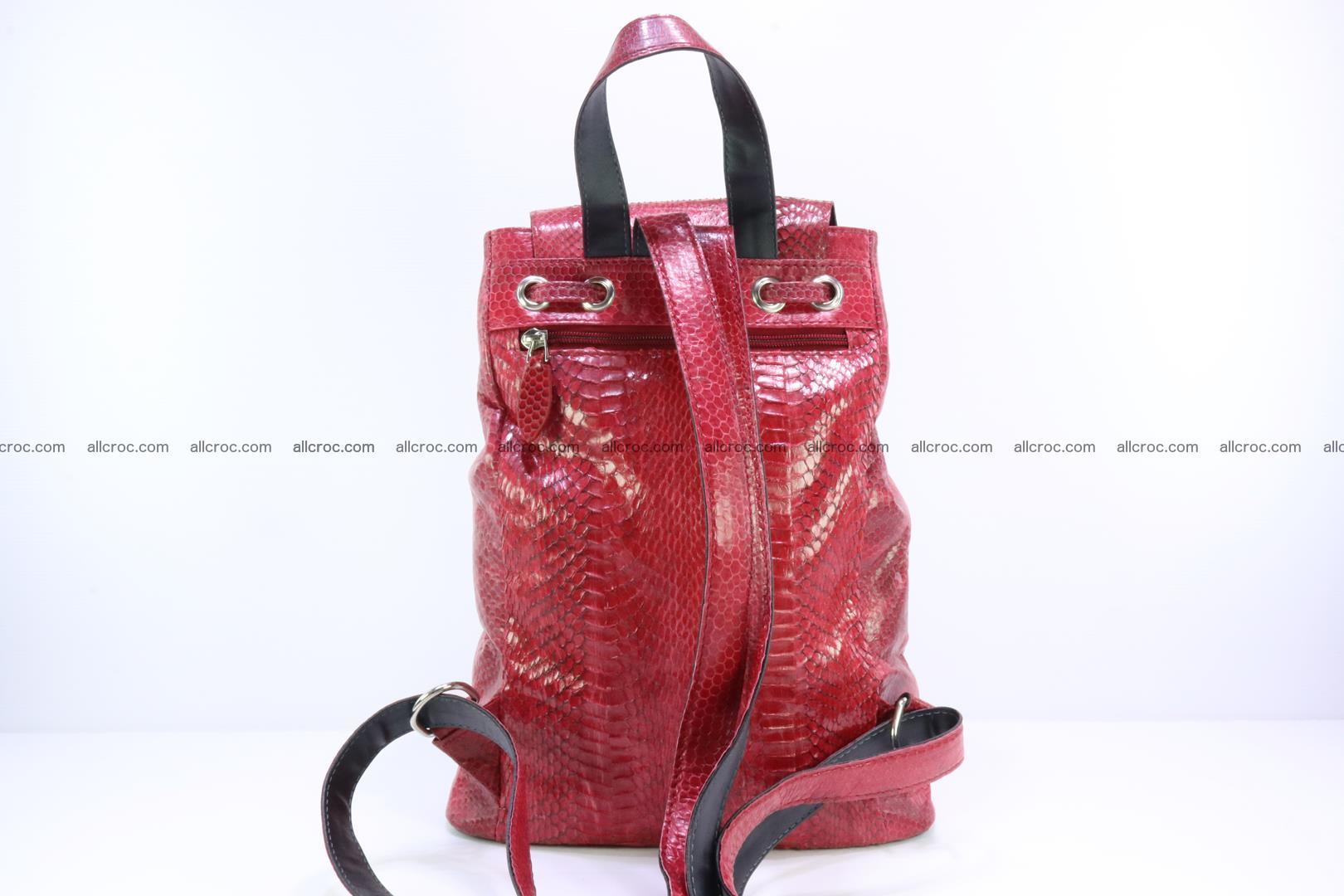 Cobra skin backpack with head of cobra 418 Foto 3