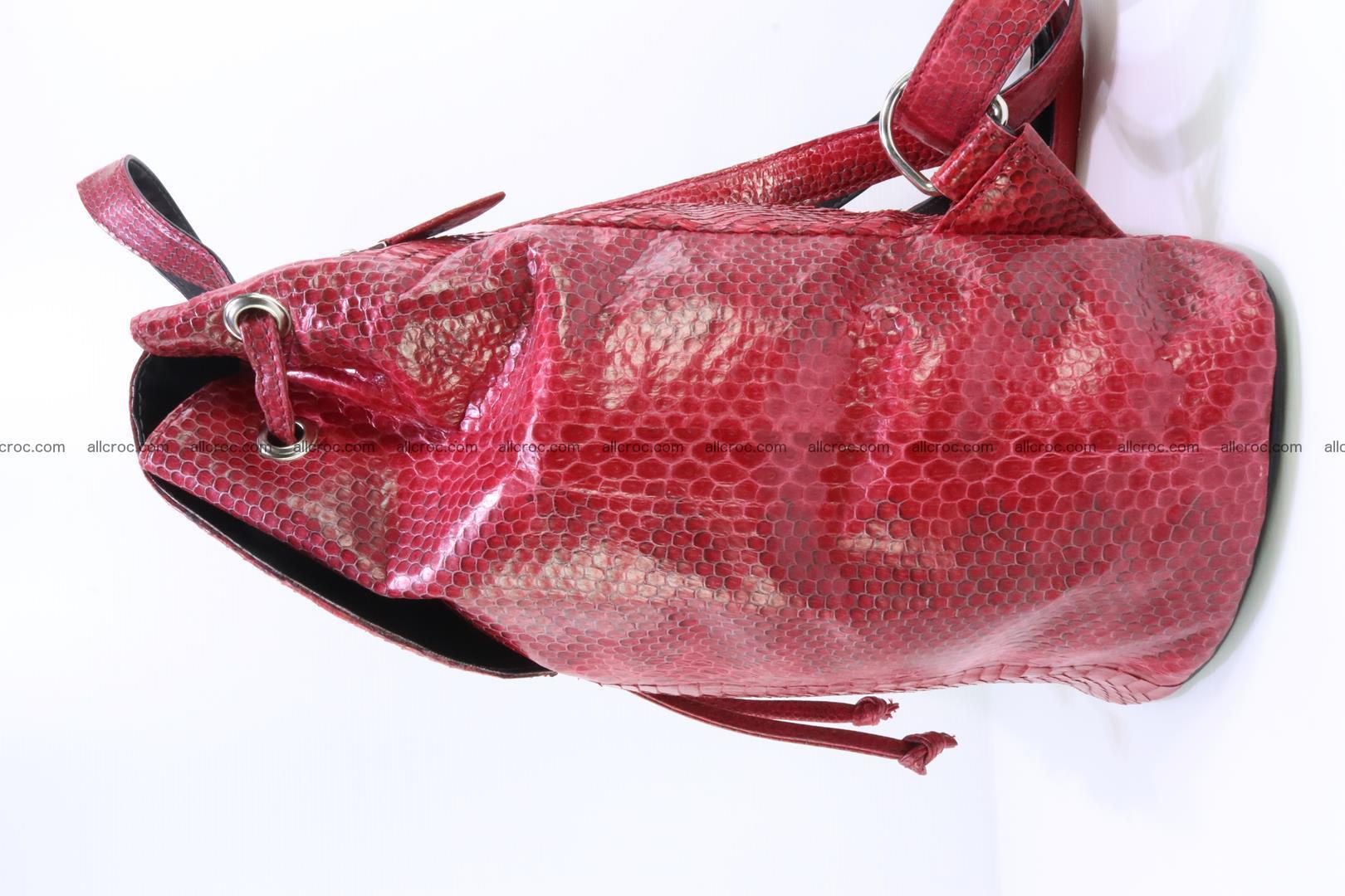 Cobra skin backpack with head of cobra 418 Foto 4