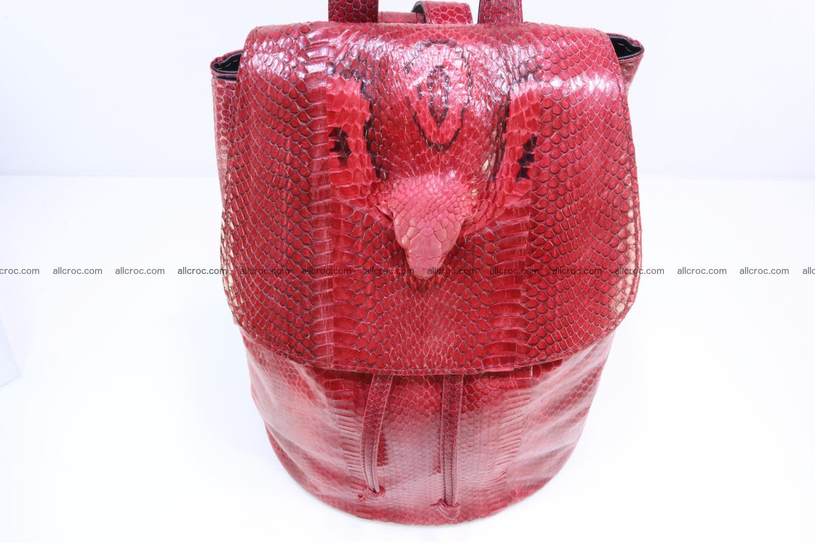 Cobra skin backpack with head of cobra 418 Foto 5