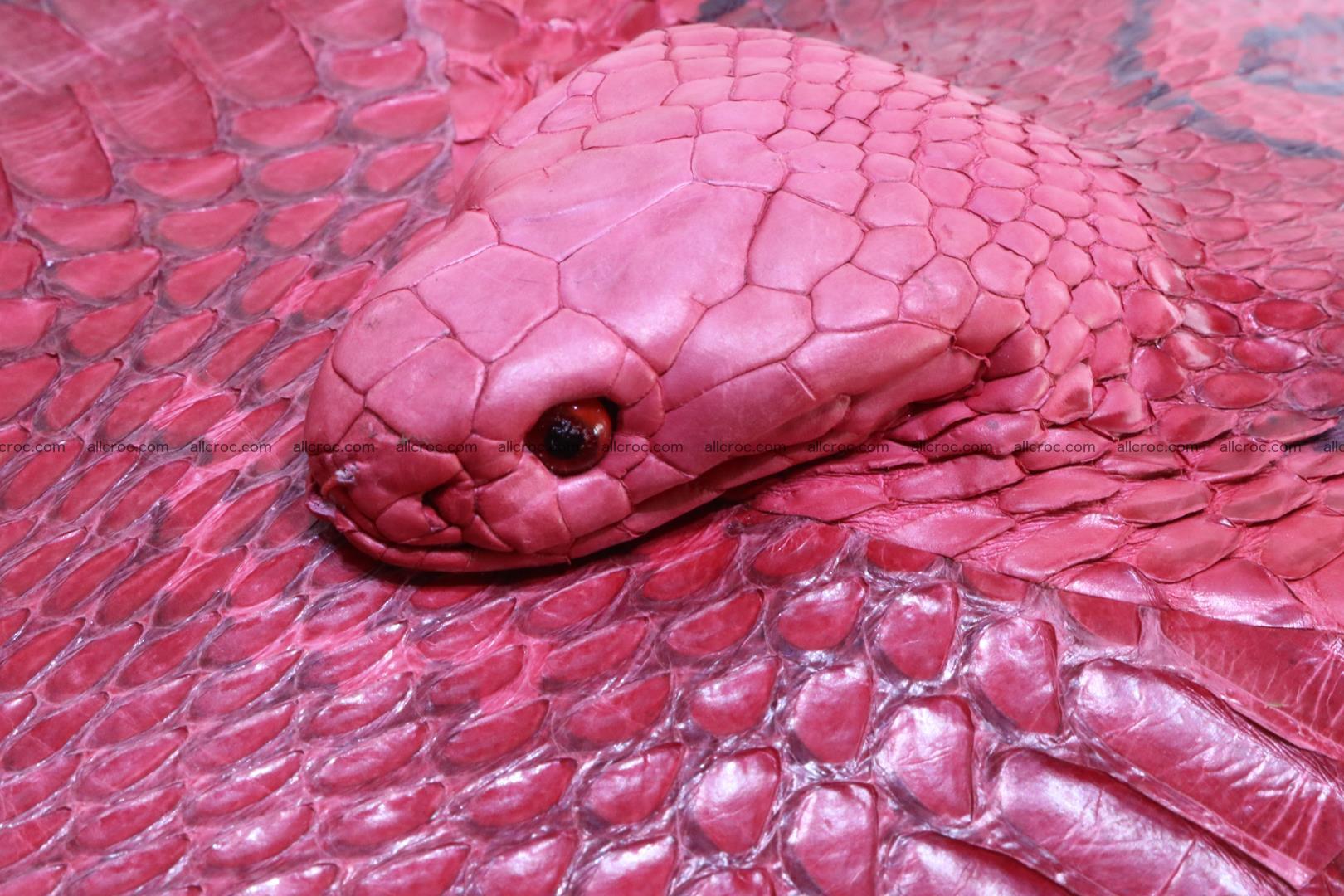 Cobra skin backpack with head of cobra 418 Foto 6