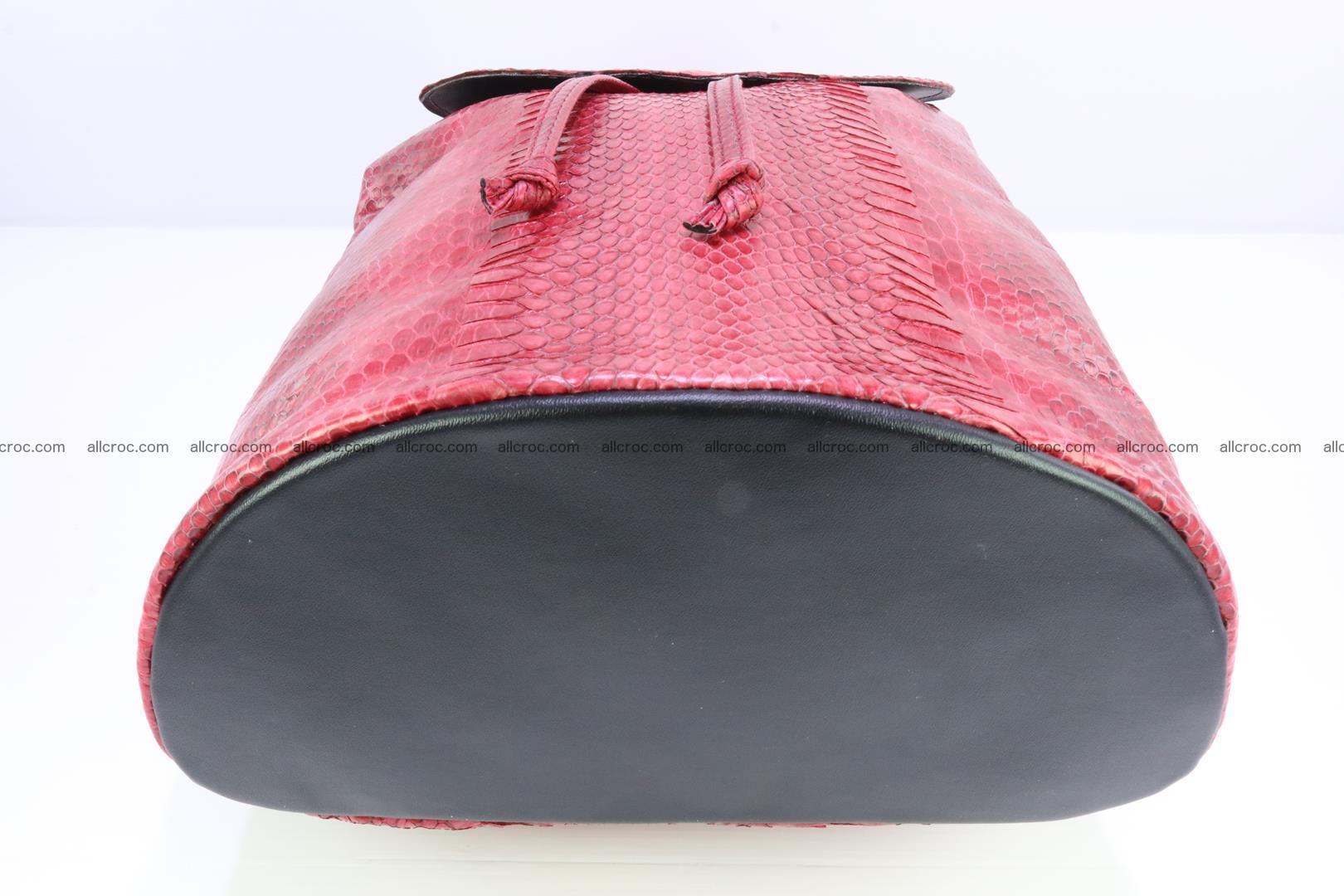 Cobra skin backpack with head of cobra 418 Foto 8