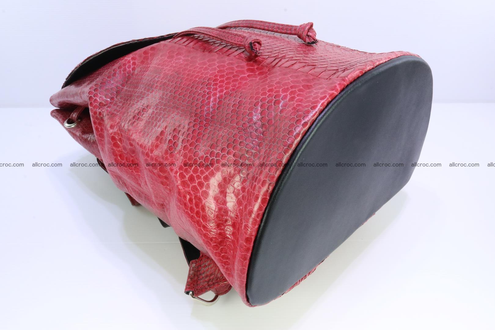 Cobra skin backpack with head of cobra 418 Foto 9